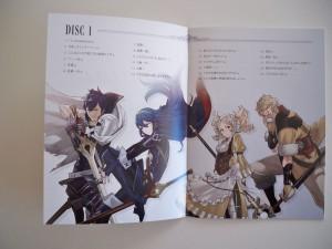 Booklet: Track-Auflistung